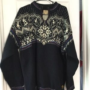 Dale of Norway Ski zip up sweater.